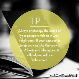 Travel Tips from Faculty