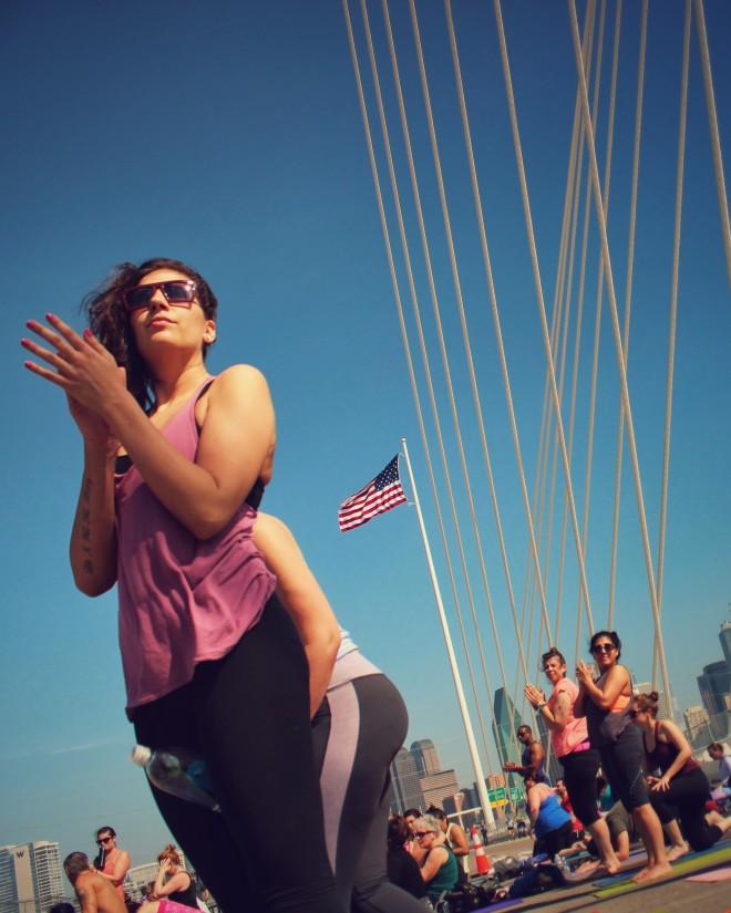 Dallas Bridge Yoga Session