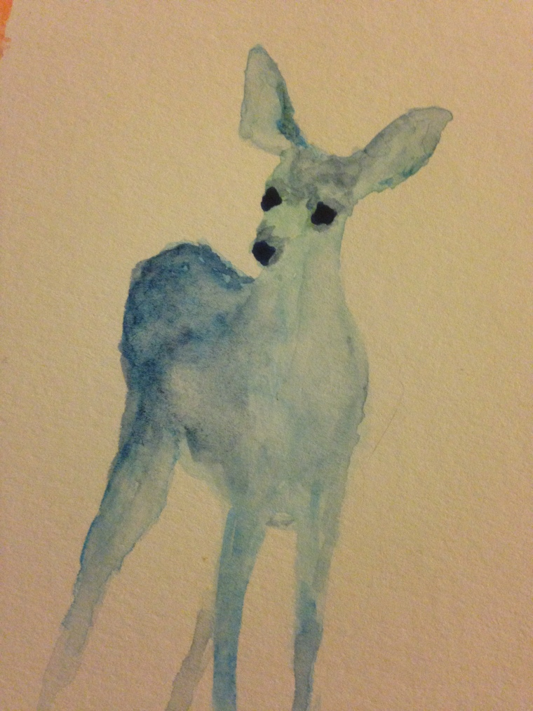 Watercolor Deer