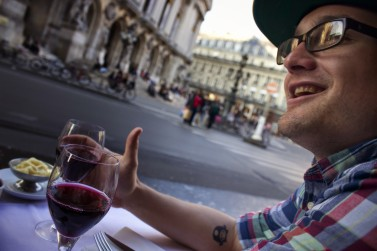 Drinking Wine in Paris