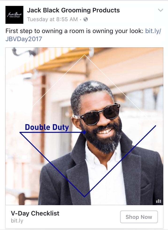 jack black grooming products social media facebook post